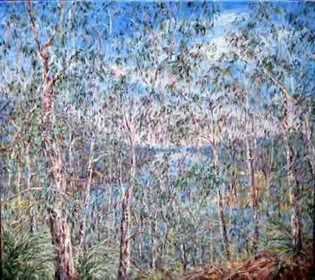 Tessa Perceval, Shoalhaven View, Oil on Linen, 76 cm by 91 cm - SOLD